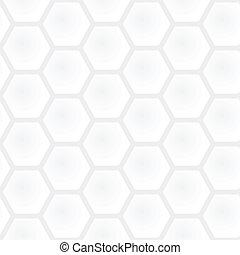 矢量, 灰色, 圖表, 簡單, 光, 現代, -, seamless, texture., polygonal, 廣場, 黑色的背景, 圖案, 白色, 幾何學, 蜂窩