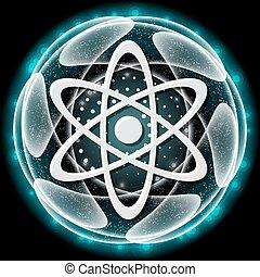 矢量, 科學, 摘要, 對象, 圖象