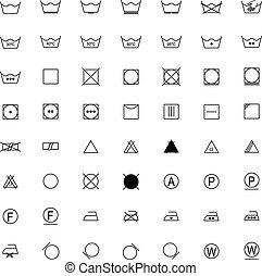 矢量, 符號, 集合, 洗衣房, 插圖