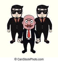 矢量, 老板, 憤怒, 保鏢