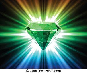 矢量, 背景。, 明亮, 鑽石, 鮮艷