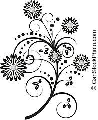 矢量, 花的要素, 設計, 插圖