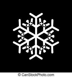 矢量, 設計, 聖誕節, 雪花