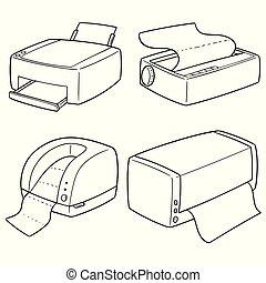 矢量, 集合, 打印机