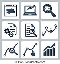 矢量, 集合, 數据, 分析, 圖象