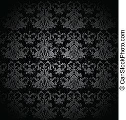 矢量, pattern., seamless, 緞子