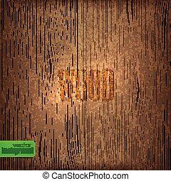 矢量, texture., 背景, 木頭