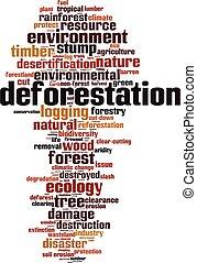 砍伐森林, 雲, 詞