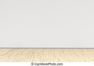 硬木, 白色 室, 地板