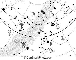 碎片, 地圖集, 天文學, 天上