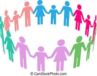 社會, 差异, 家庭, 社區, 人們