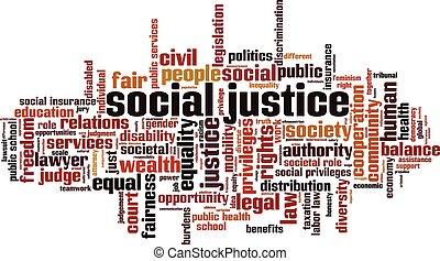 社會, 正義, 詞, 雲