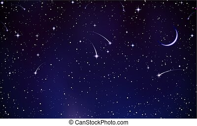 神秘, 彗星, 天空, 夜晚
