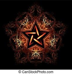 神秘, 星, 火熱
