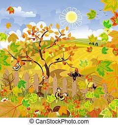 秋天, 鄉村的地形