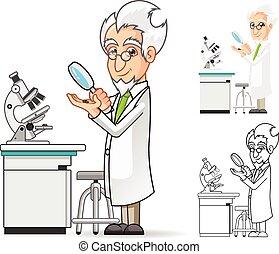 科學家, 字, 卡通