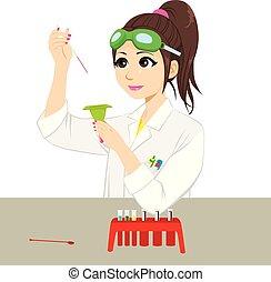 科學家, 實驗, 女性
