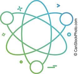 科學, 原子, 矢量, 設計, 圖象