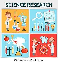 科學, 套間, 概念, 研究