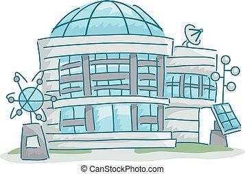 科學, 實驗室, 建築物