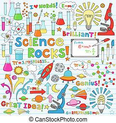 科學, 矢量, 插圖, doodles
