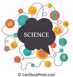 科學, 矢量, 背景