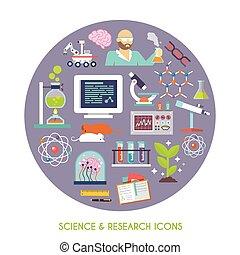 科學, 研究, 套間, 圖象