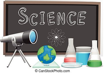 科學, 詞, 黑板