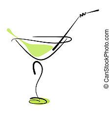 秸桿, 玻璃, 酒精, 雞尾酒