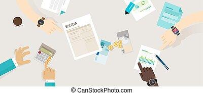 稅, amortization, 以前, 興趣, ebitda, 貶值, 收入