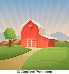 穀倉, 紅色, 農場
