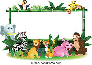 空白徵候, 動物, 卡通