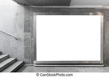 空白, 廣告欄, 大廳