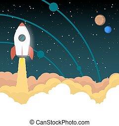 空間火箭, 去