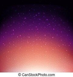 空間, 不滿星星的, 夜晚天空, 背景, 紫色