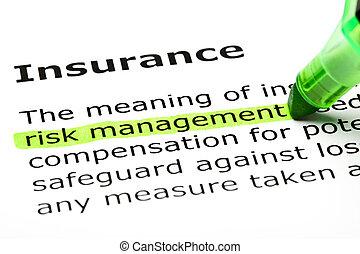 突出, 'risk, management', 'insurance', 在下面