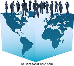 立方, 商業界人士, 全球, 世界, 資源