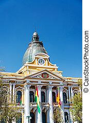 立法机關, 建築物, paz, 玻利維亞, la