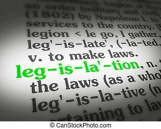 立法, 字典