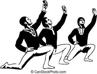 站立, 略述, 姿態, 芭蕾舞舞蹈演員, 男性