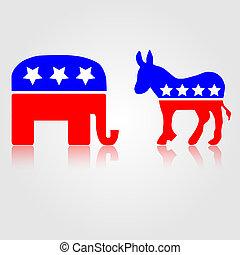 符號, 共和, 政治, 民主
