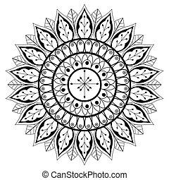 符號, 印度, 被隔离, 黑色, 白色, 壇場, 卡通
