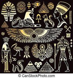 符號, 埃及, 被隔离, 集合, 矢量