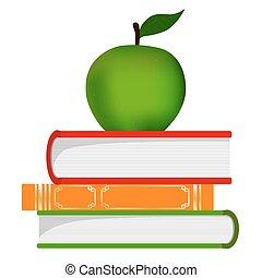 符號, -, 堆, 書, 教育