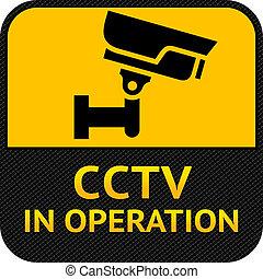 符號, 安全照像机, cctv, 標簽