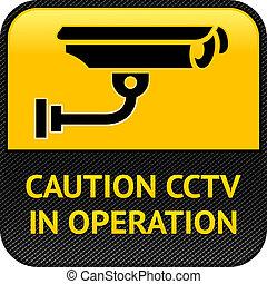 符號, 安全照像机, cctv, pictogram