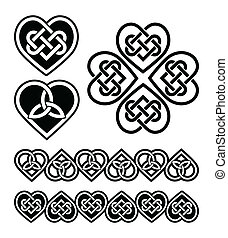 符號, 心, 結, -, 凱爾特語, 矢量