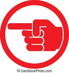 符號, 手指指