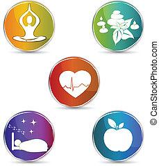 符號, 集合, 健康