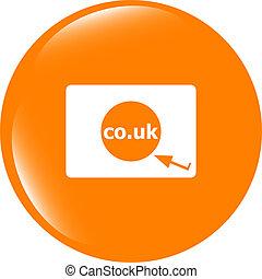 符號, 領域, icon., co.uk, 簽署, 英國, subdomain, 網際網路